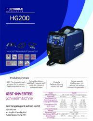 Schweißgerät HG200 3 in 1 - MIG/MAG / WIG / Elektrode